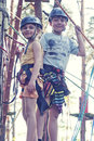 Girl And Boy In Adventure Park Royalty Free Stock Images - 27540579