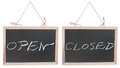 Open And Closed Words On Blackboard Stock Photography - 27542482