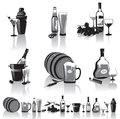 Still-life Of Spirits And Glasses Royalty Free Stock Images - 27551819