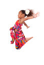 Portrait Of Young African Asian Girl Jumping Royalty Free Stock Photo - 27558615