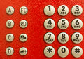 Red Public Phone Dial Pad Stock Photos - 27559403