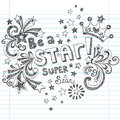 Be A Star Sketchy School Doodles Vector Design Royalty Free Stock Photo - 27560165