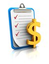 Clipboard With Dollar Sign Royalty Free Stock Photo - 27561935