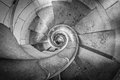 Steep Spiral Staircase Of Building From Above. Stock Photo - 27566090