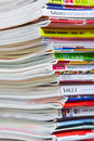 Stack Of German Magazines Royalty Free Stock Photo - 27566645