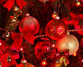 Christmas  Background With Red Tree. Stock Photography - 27568922