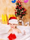 Child Washing In Bubble Bath . Stock Photo - 27568960
