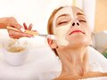 Clay Facial Mask In Beauty Spa. Royalty Free Stock Images - 27569069