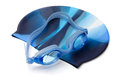 Swimming Cap And Goggles Royalty Free Stock Photo - 27574085