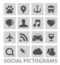 Abstract Social Pictograms Symbols Set Isolated Stock Image - 27577121