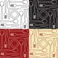 Kitchen Utensils - Seamless Pattern Royalty Free Stock Images - 27578339
