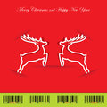 Christmas Background With Reindeer Royalty Free Stock Photography - 27584397