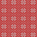 Red And White Knitted Snowflakes Background Royalty Free Stock Photo - 27589275
