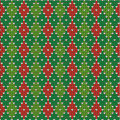 Christmas Argyle Background, Seamless Pattern Incl Royalty Free Stock Photo - 27608145