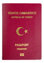 Turkish Passport Cover - Clipping Path Stock Images - 27608264