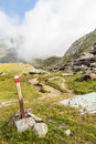 Path Sign On Italian Alps Royalty Free Stock Image - 27615626