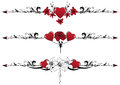 Set Of Valentine  Borders Royalty Free Stock Images - 27619479