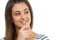 Close Up Of Cute Teen Girl Looking Aside. Royalty Free Stock Images - 27619489