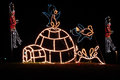 Christmas Lights - Penguins And Igloo Royalty Free Stock Images - 27623599