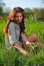 Beauty Girl On The Meadow Stock Images - 27625944