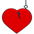 Hooked Heart Stock Images - 27646924