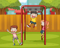 Kids And Monkey Bar Stock Images - 27648224