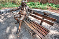 Ben Franklin On A Bench Stock Photography - 27651082