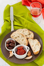 Chorizo With Olives And Bread Stock Photos - 27663073