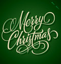 Merry Christmas Hand Lettering (vector) Royalty Free Stock Image - 27665906