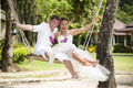 Man And Wife After Wedding Ceremony Royalty Free Stock Images - 27669499