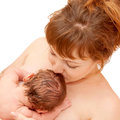 Mother Nursing After Birth Royalty Free Stock Photo - 27672005