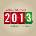 Merry Christmas And Happy New Year 2013 Mechanical Royalty Free Stock Photography - 27674997