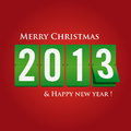 Merry Christmas And Happy New Year 2013 Mechanical Stock Images - 27675014