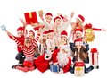 Group Of Children With Santa Claus. Stock Images - 27677404