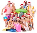 Group People Holding Beach Accessories. Stock Photography - 27677432