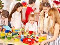 Child Painting At Art School. Royalty Free Stock Photography - 27677447