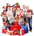 Group People And  Santa. Stock Photography - 27677512
