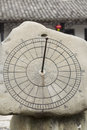Chinese Sun Dial In Stone Stock Images - 27683624