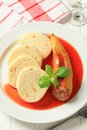 Stuffed Pepper With Tomato Sauce And Dumplings Stock Image - 27684911