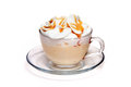Coffe Cocktail With Caramel In Glass Cup Royalty Free Stock Photography - 27692037