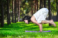 Yoga In The Park Royalty Free Stock Photography - 27692217