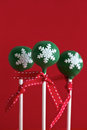 Green Christmas Cake Pops Royalty Free Stock Image - 27705056