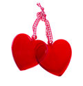 Two Glass Hearts Royalty Free Stock Image - 27705736