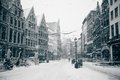 Antwerp At Winter Snowstorm Royalty Free Stock Image - 27712786