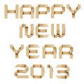 Happy New Year 2013 Recycled Papercraft. Stock Photography - 27719072