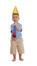 Little Boy With Party Accessories Royalty Free Stock Photo - 27720835