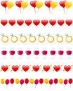 Valentine S Day Dividers Set Royalty Free Stock Photo - 27721425