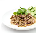 Spicy Minced Pork Salad , Thai Food Royalty Free Stock Photos - 27740168