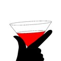 Abstraction WOMAN Silhouette Black And Red Glass Stock Photos - 27746543