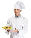 Portrait Of Chef Cook Showing Salad Dish Stock Images - 27747114